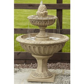 Pineapple style 2 tier water fountain