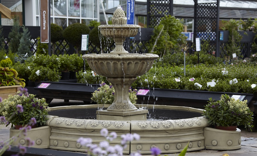 Ornate quality British made feature water fountain