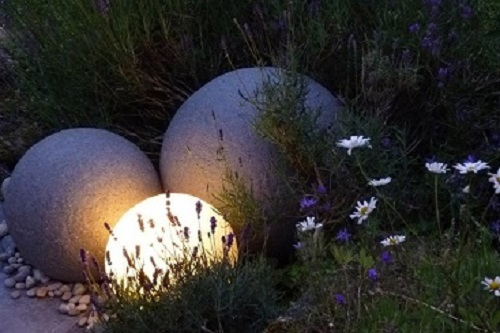 'Stone' Globe Lights for landscaper architects and landscapers