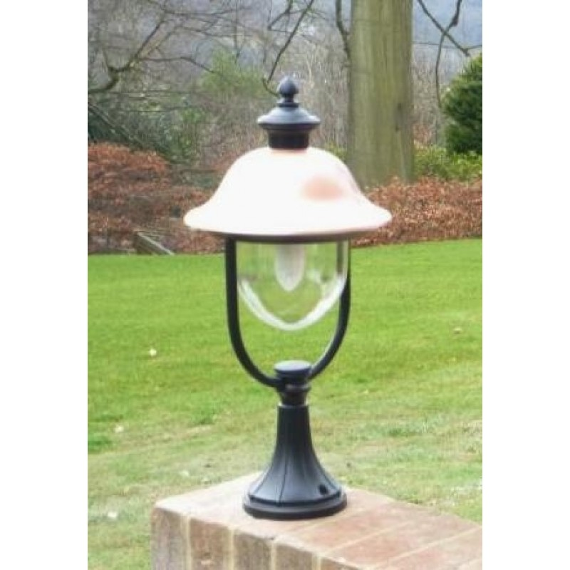 adriana pedestal light with photocell dusk to dawn real copper