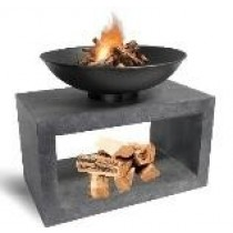 Firebowl & Rectangle Console - Cement