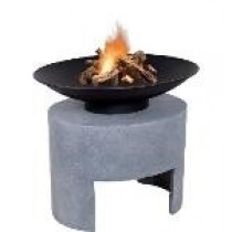 Firebowl & Oval Console -  Cement  Colour 30cm