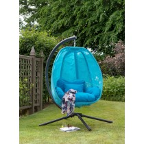Folding Textiline Swing Chair