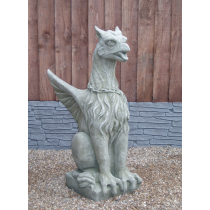Griffin with chain statue