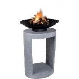 Firebowl & Oval Console -  Cement  Colour 56cm