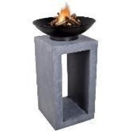 Firebowl & Square Console -  Cement  Colour 105cm