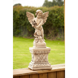 Large angel on a plinth