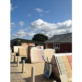 Riven Paving Slabs. Colour Stone (Buff)