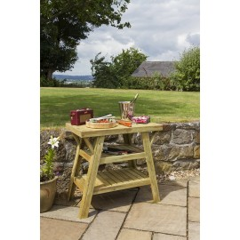 Wooden BBQ Side Table
