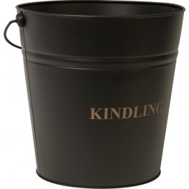 Black Kindling Bucket - 30 cm