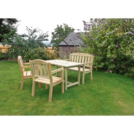 Caroline Table, Bench and 2 Chair Set