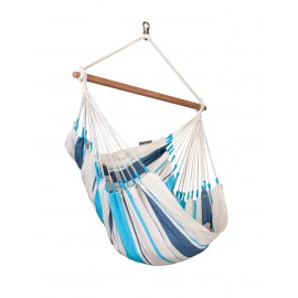 Caribeña Aqua Blue Cotton Basic Hammock Chair