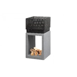 Clay Fibre Console Square - Fire Bowls - Cement