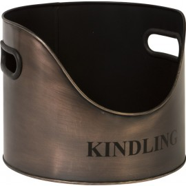 Copper Round Kindling Holder