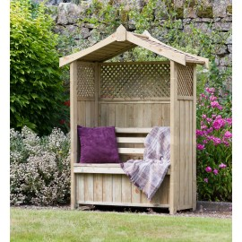 Dorset garden Arbour with storage box