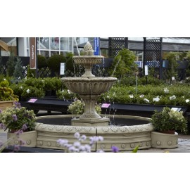 Large Ornate Circular Water Fountain