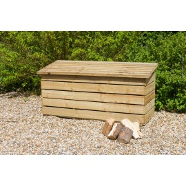 Wooden Log Chest