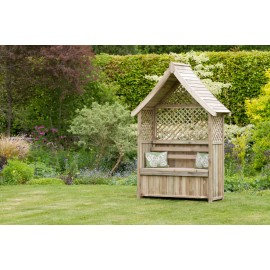 Norfolk garden Arbour with storage box