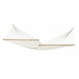 Virginia Écru - Cotton Rope Kingsize Spreader Bar Hammock
