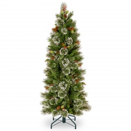 Woodbury Pine 5.5ft Slim Artifical Christmas Tree