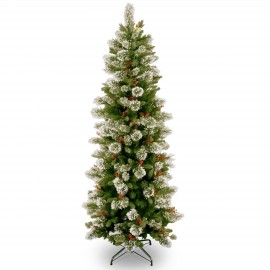 Woodbury Pine 6.5ft Slim Artificial Christmas Tree