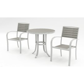 Tuscan 2 Seat bistro set - White and grey