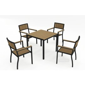 Amalfi 4 Seat table and chair set