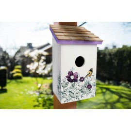 Printed Saltbox Birdhouse - Anemone