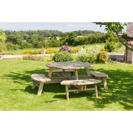 Rose Round Picnic Table