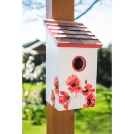 Saltbox Poppy Birdhouse