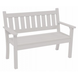 Stay A While White 2 Seat Bench