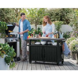 BBQ Outdoor Utility Table/Storage - Double