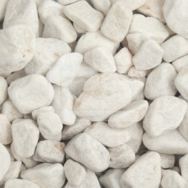 White Marble Pebbles Dry