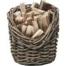 Wicker Kindling basket - round - 24 cm