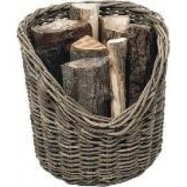 Wicker Log Basket - round, 40cm