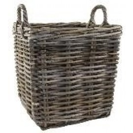 Wicker Log basket - square, 35cm (unlined)