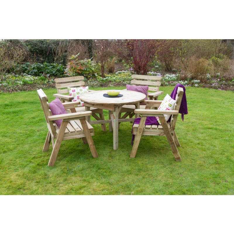 Abbey Wooden Round Table and Chair Set