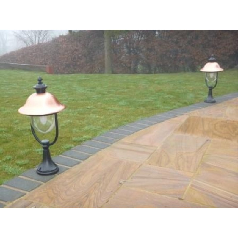 The Adriana Pedestal Light with Photocell