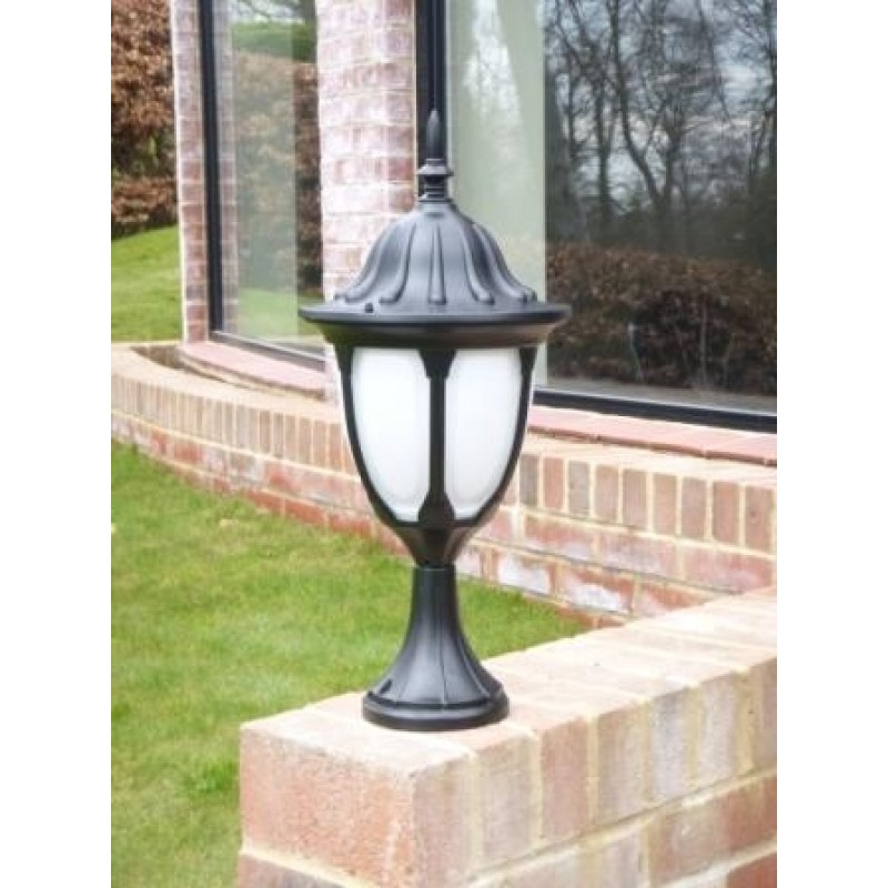 Amphora Pedestal Lantern with photocell