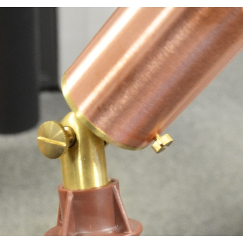 Astros - Natural Copper and Brass MR16 Spotlight with Ground Spike