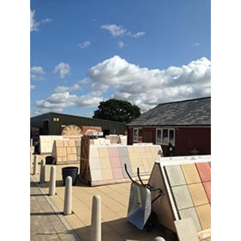 Riven Patio Paving Slabs Colour Natural.