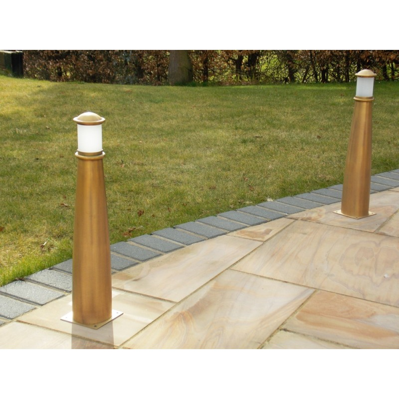 Solid brass pathway lights