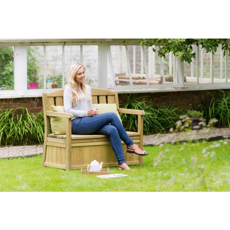 Caroline Two Seater Bench with storage box