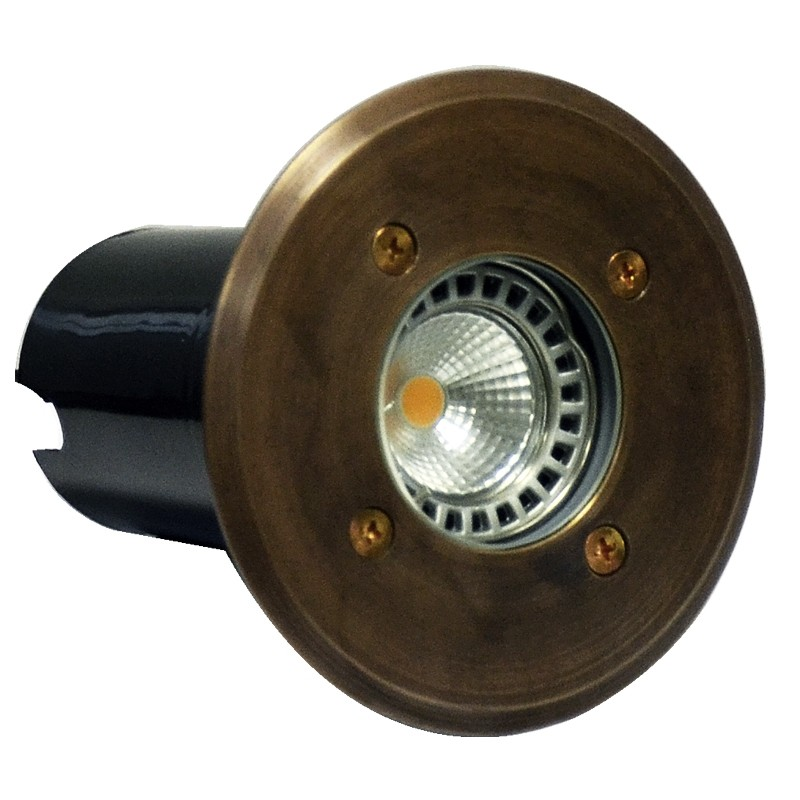 Decimax - 240v Recessed Light  - Solid Brass (Rustic Bronze)