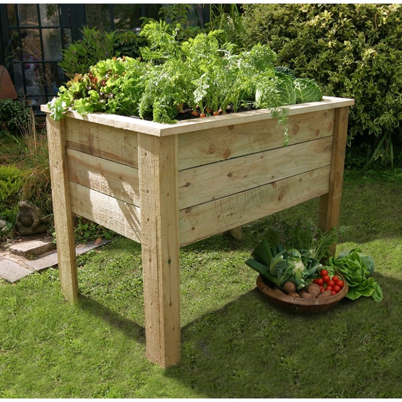 Deep Root Wooden Planter 1 Metre