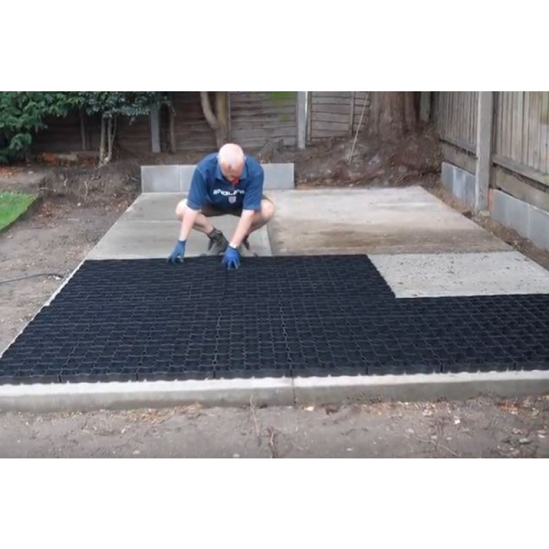 Plastic Paving grids for shed bases