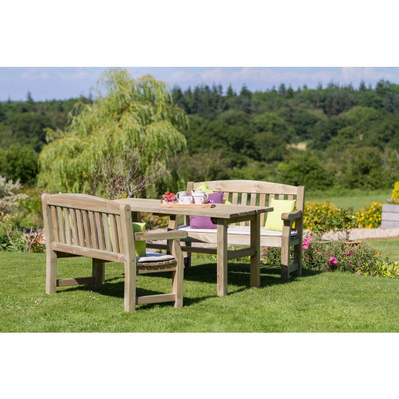 Emily garden table and bench set