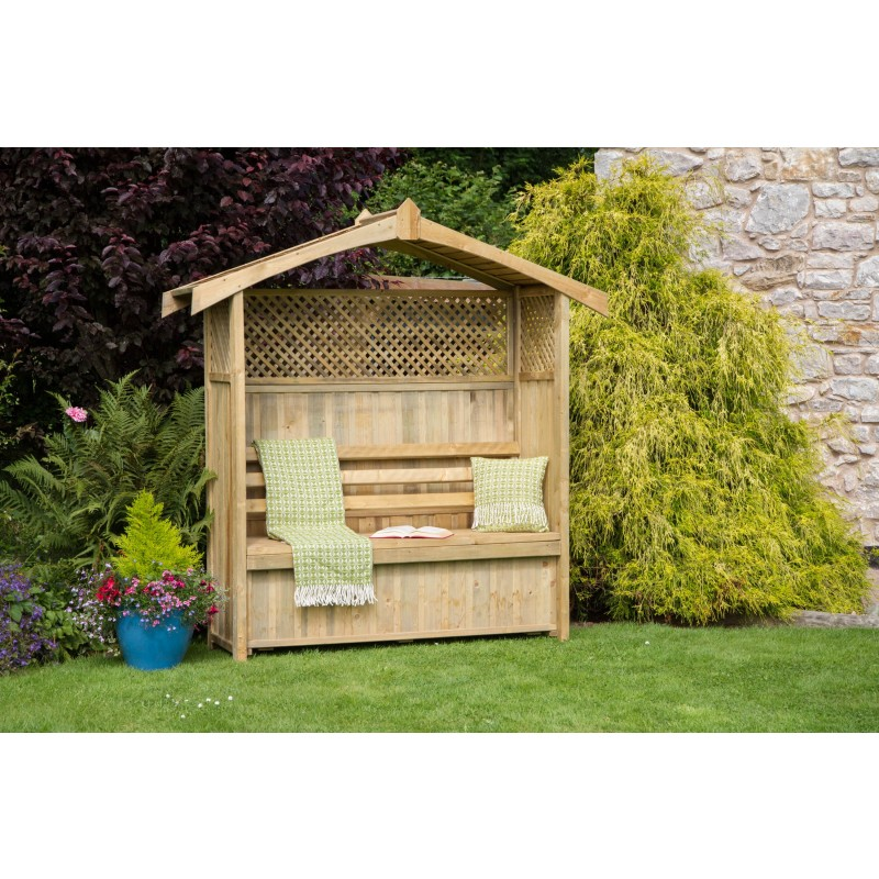 Hampshire garden Arbour with storage box