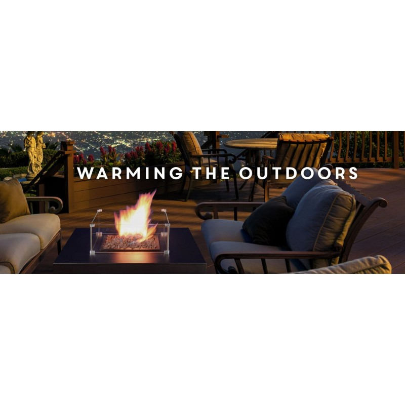 Muztag outdoor gas table heater from Supreme Landscaping Products