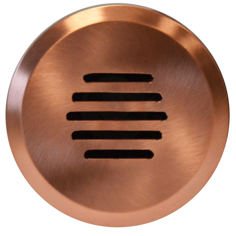 Linalite - step light, louvered in-wall or in-ground natural copper light